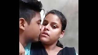 Desi college lovers steamy kiss