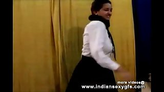 Horny Steaming Indian PornStar Babe as School girl Squeezing Big Funbags and masturbating Part1 - indiansex